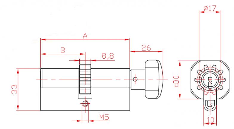 Цилиндер со  ракофатка и запчаник